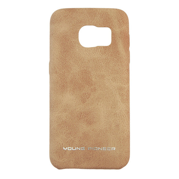 Young Pioneer PU Leather Back Cover for Samsung S7 Edge