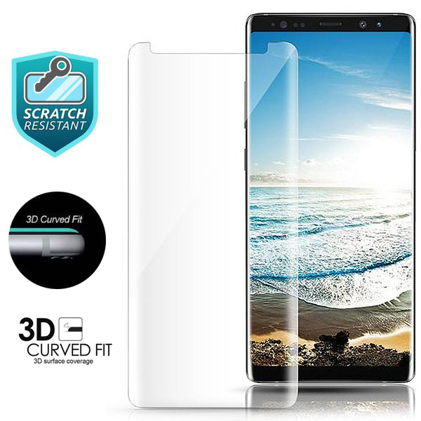 release date: 2f3c4 de705 Samsung Note 8 3D Case Friendly Tempered Glass Screen Protector