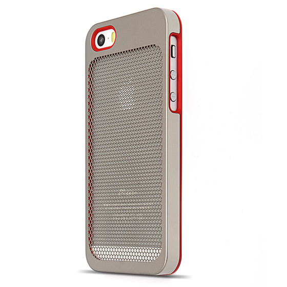 Sevenmilli Ultraslim Honeycomb iPhone 5 Silver and Red