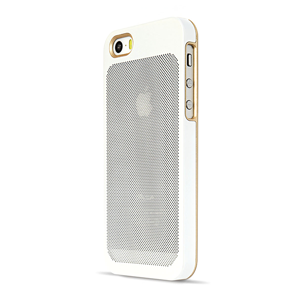 Sevenmilli Ultraslim Honeycomb iPhone 5 White and Gold