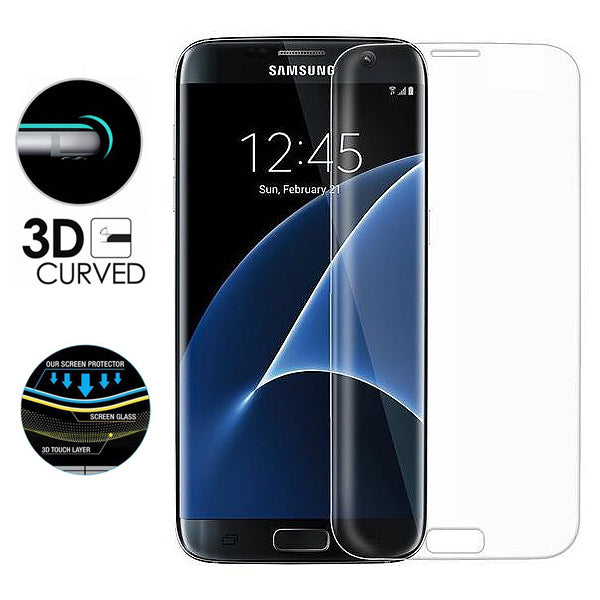 online store 5fd06 3bb2d Samsung Galaxy S7 Edge 3D Clear Tempered glass screen protector