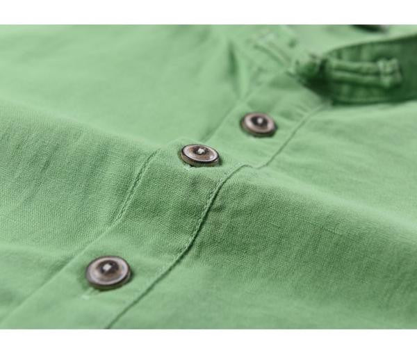 Fashion men's linen shirts 5 colors