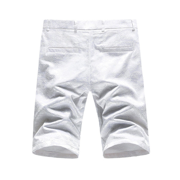 Embroidered mens shorts 3 colors