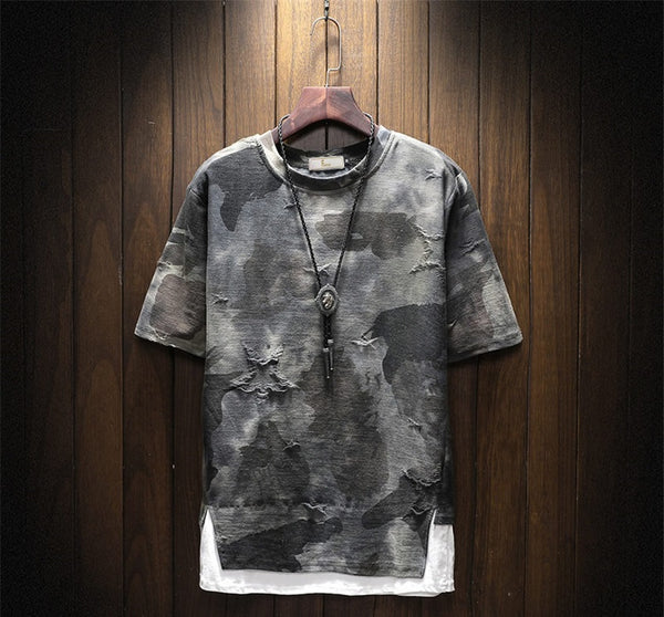Men's t-shirt camouflage short sleeve 2 colors