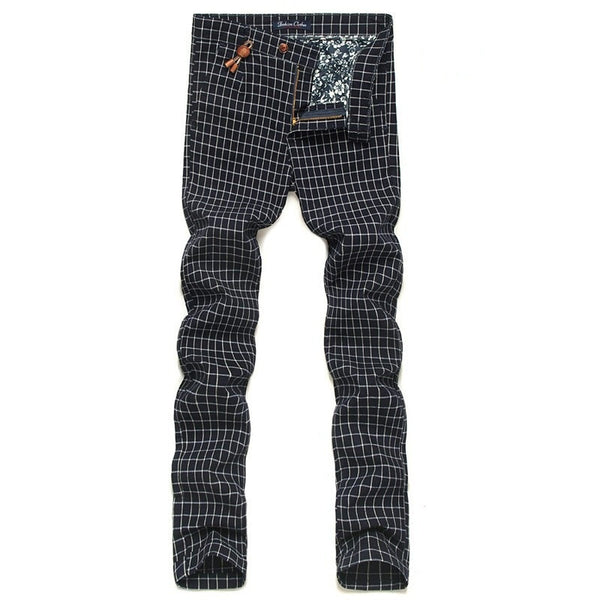 Men's Plaid Classic Pants British Style 3 colors