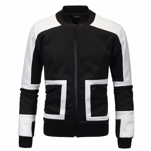 Mens jacket Black and white