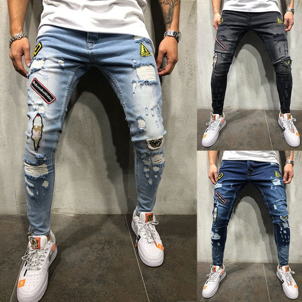 Men's ripped jeans 3 colors