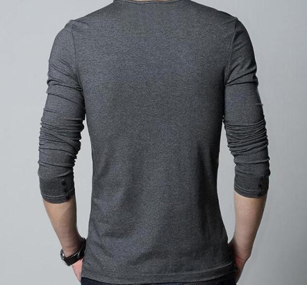 Mens Long Sleeve T-Shirt Stylish 2 colors