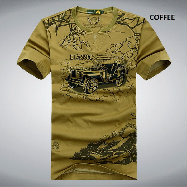 Elastic Cotton T Shirt Men 3 colors