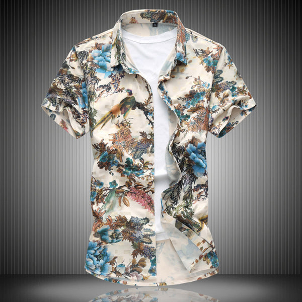Men's Shirt with short sleeves 2 colors