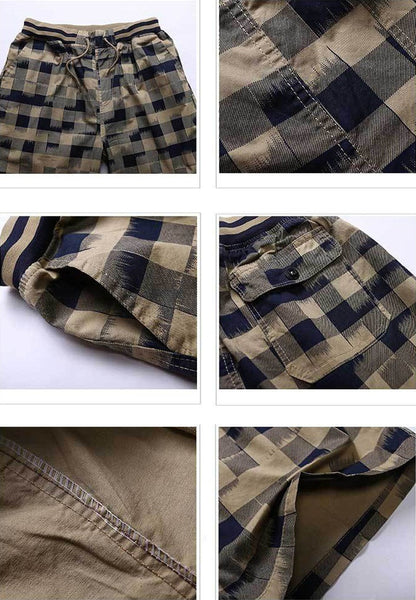 Mens Plaid Shorts Classic Design 3 colors