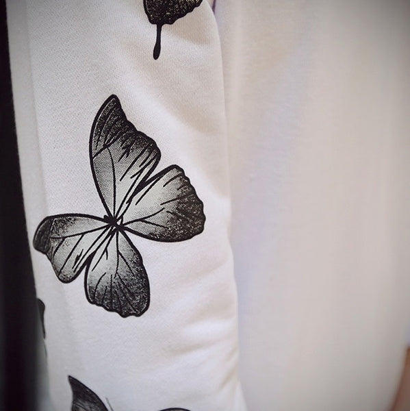 Sweatshirt men butterfly print 3 colors