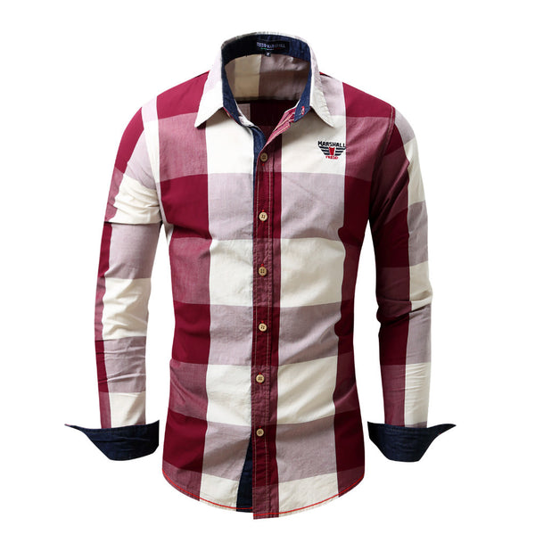 Men's shirt Long Sleeve Shirt 4 colors