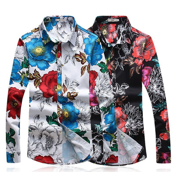 Men's Floral Shirt 2 colors