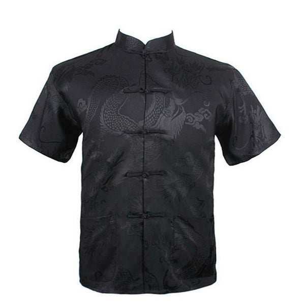 Men Shirt Chinese Style Short Sleeve 5 colors