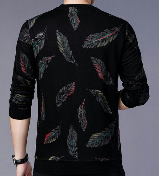Men's Pullover With Feather