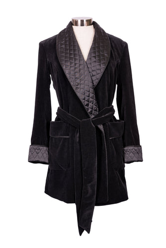 Luxury Velvet and Silk Smoking Jacket