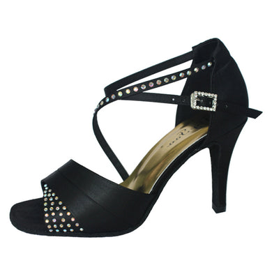 Dominique Diamante Dance Shoes Black