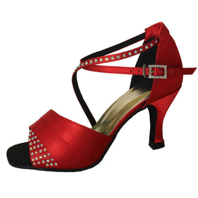 Dominique Diamante Dance Shoes Red