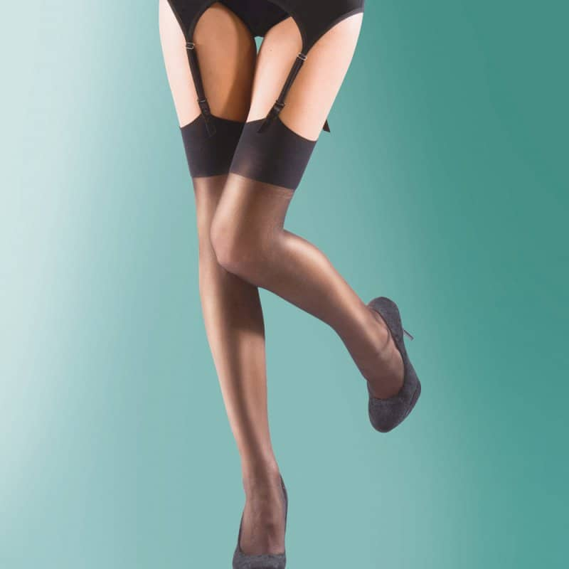 Traditional Black Nylon Stockings