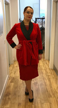 Red velvet and silk luxury smoking jacket
