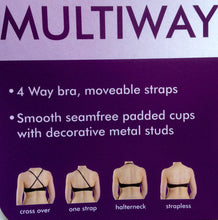 Black multiway Smooth Seamfree Padded Bra underwired Comfortable cheap