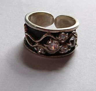 Handmade 925 Silver Ring wide