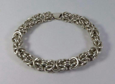 Handmade 925 Silver Chunky Bracelet  made from 106 rings