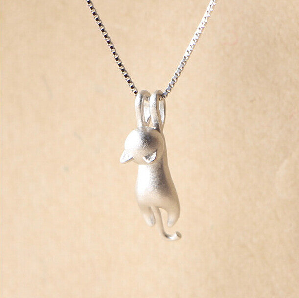 925 Sterling Silver Cat Necklace - Delighful Pet Accessories