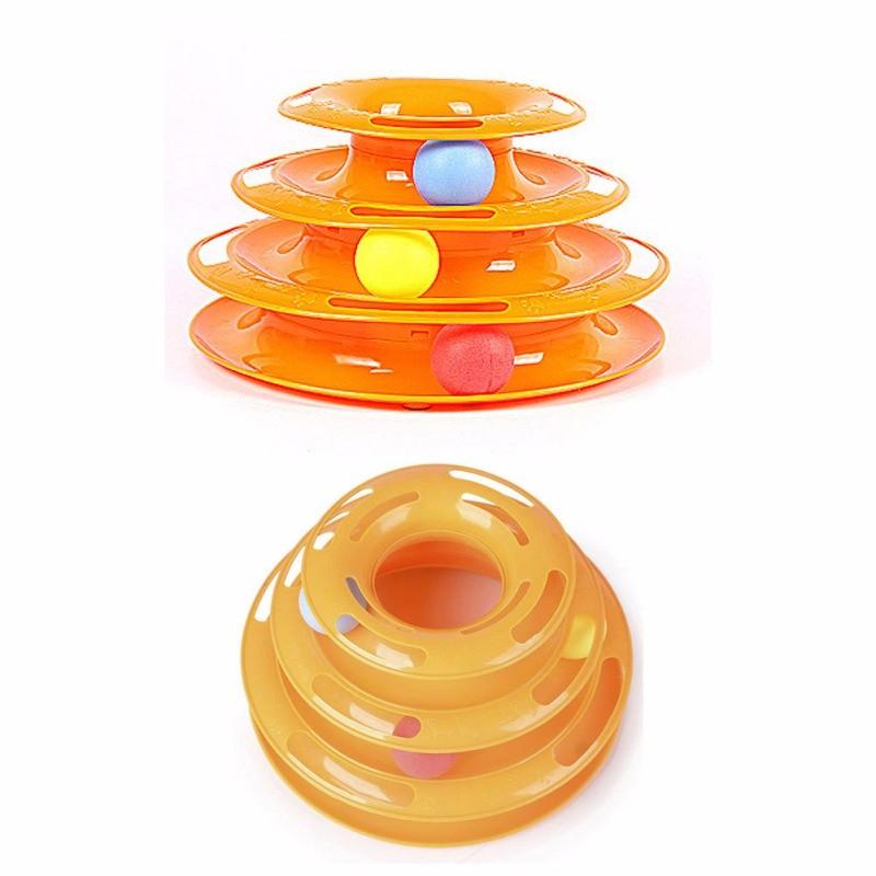 Funny Triple Play Disc Cat Toy