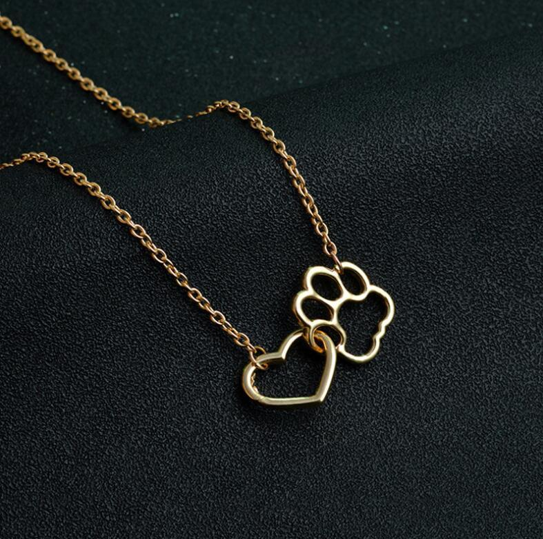 New Arrival Fashion Heart Paw Necklac - Delighful Pet Accessories