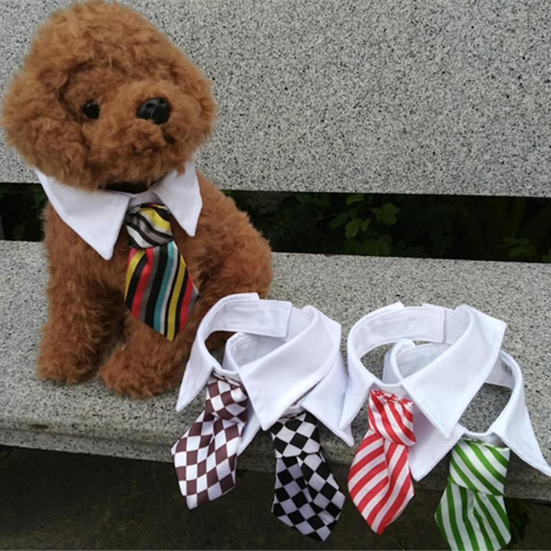 Gentleman Tie Grid Stripe Cat Bow
