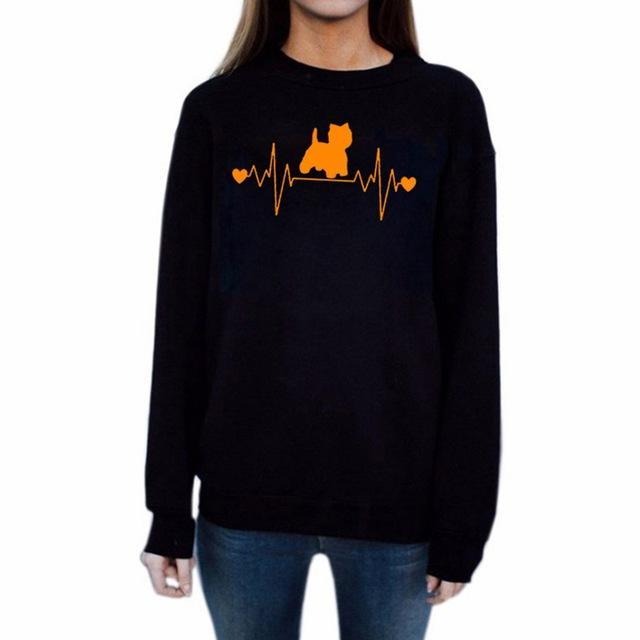 Cartoon Cat Printed Sweatshirts