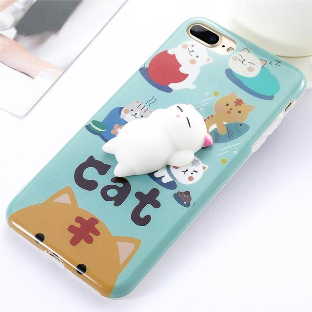 Cute 3D Squishy Case For iPhone  5s 6 6s 7 Plus