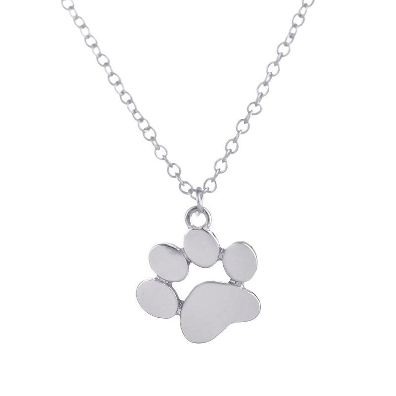 New Cat Dog Paw Necklace - Delighful Pet Accessories