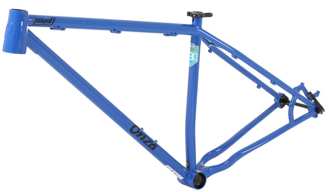"Payoff 29"" Steel Hardtail MTB Frame - Blue - Onza Bikes"