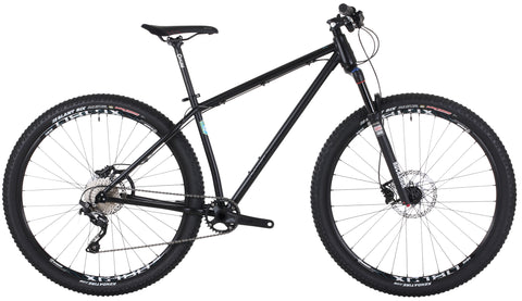 "Payoff 29"" Steel Hardtail Mountain Bike - Black - Onza Bikes"