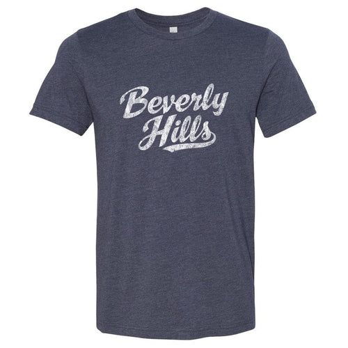 Beverly Hills California CA T-Shirt Vintage Baseball Script Sports Design