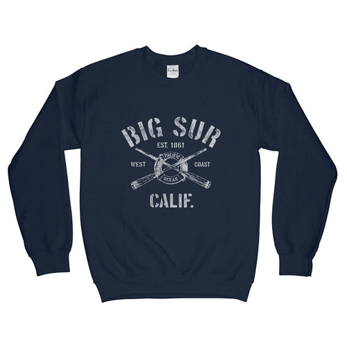 Big Sur California CA Sweatshirt Nautical Boating Design (Unisex)