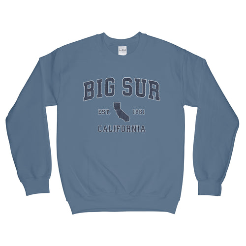 Big Sur California CA Sweatshirt Vintage Sports Design Adult (Unisex)