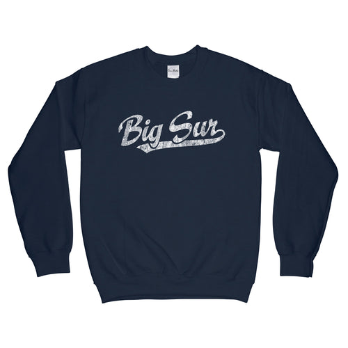 Big Sur California CA Sweatshirt Baseball Script - Adult (Unisex)