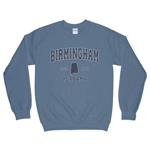 Birmingham Alabama AL Sweatshirt Vintage Sports Design Adult (Unisex)