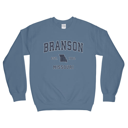 Branson Missouri MO Sweatshirt Vintage Sports Design Adult (Unisex)