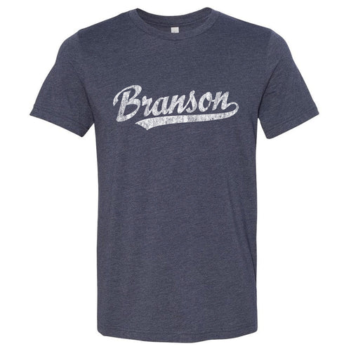 Branson Missouri MO T-Shirt Vintage Baseball Script Sports Design