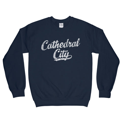 Cathedral City California CA Sweatshirt Baseball Script - Adult (Unisex)