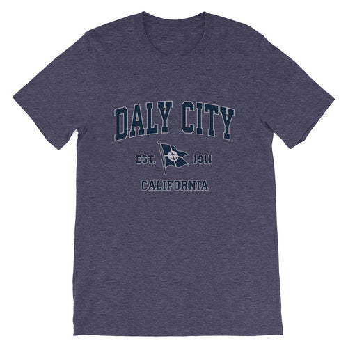 Daly City California CA Vintage Boat Anchor Flag T-Shirt (Unisex)