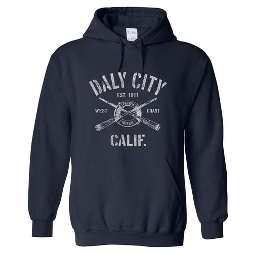 Daly City California CA Hoodie Nautical Boating Design (Unisex)