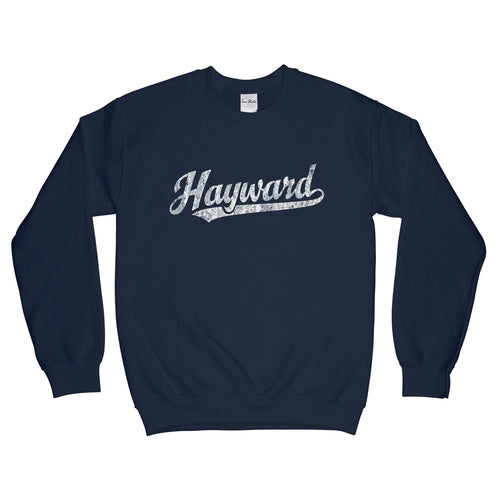 Hayward California CA Sweatshirt Baseball Script - Adult (Unisex)