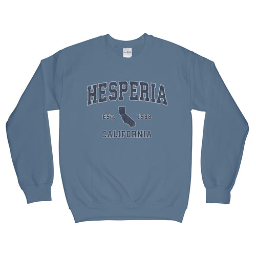 Hesperia California CA Sweatshirt Vintage Sports Design Adult (Unisex)