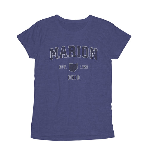 marion ohio oh womens t shirt